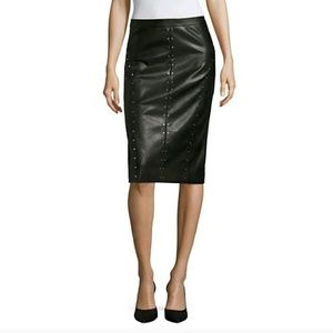 Worthington Faux Leather Studded Pencil Skirt 12